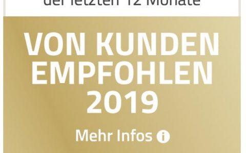 Vom Kunden empfohlen 2019