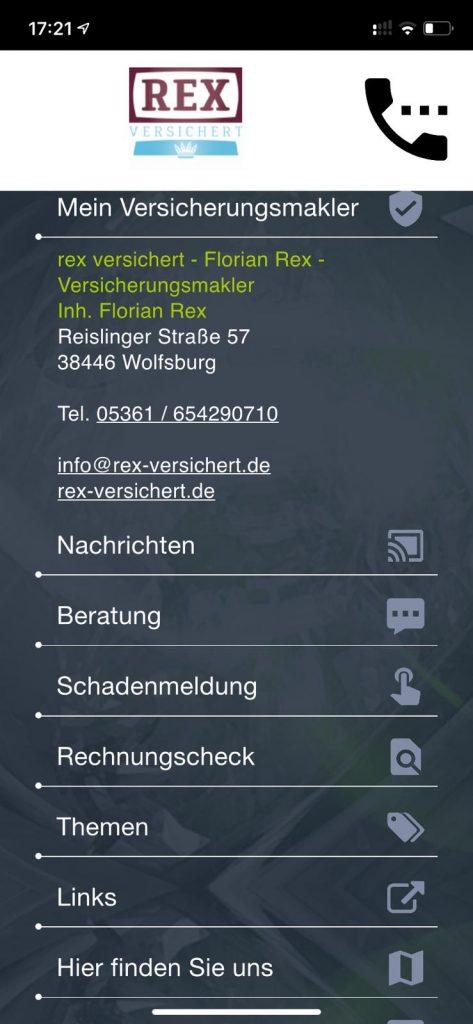 App Versicherungsmakler Wolfsburg